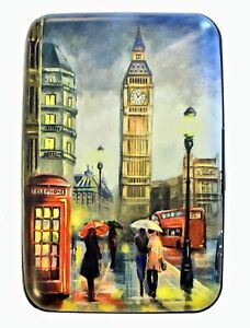 London England RFID Secure Theft Protection Credit Card Armored Wallet Travel