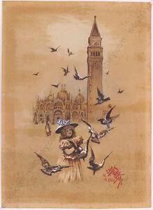 "Armin Rudolf Pelikan ""Venice"", Watercolor, 1900"