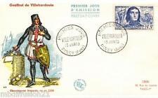 1959**ENVELOPPE,FDC 1°JOUR**GEOFFROI DE VILLEHARDOUIN**TIMBRE Y/T 1207