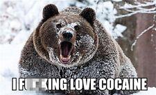 I F***ing Love Cocaine funny fridge magnet (ep)