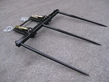 """Bucket Hay Bale Spear Attachment - 3 x 39"""" Prongs"""