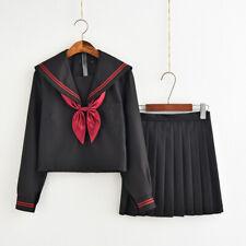 Japanese JK School Uniform Sailor Women Girl Shoujo Costume Dress Halloween