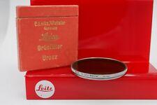 E.Leitz N.Y. Leica E58 58mm Noctilux Gr. Green Lens Filter - Chrome - Germany