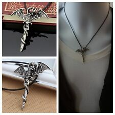 SHIP US Men's Flying Dragon Sword Titanium Stainless Steel Pendant Necklace Hot