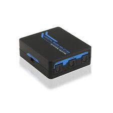 Toslink SPDIF Digital Optical Audio Splitter 3 Port 1x3 Split Box Hub Repeater