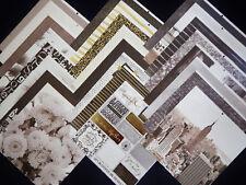 12X12 Scrapbook Paper Cardstock DCWV Black White Honeymoon City Travel 24 Lot