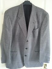 Mens Black Cheque Jacket 42 in