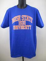 New Boise State Broncos Adult Mens Size L Large Blue Shirt