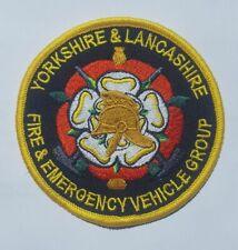 Yorkshire & Lancashire Fire & E Vehicle Group Patches,Fire Service, Fire Brigade