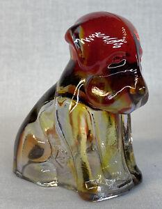 Boyd Art Glass Cherry Red Pooch Dog # 137 Made 9-14-2001