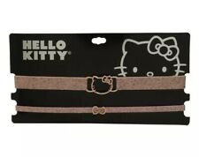 Hello Kitty Silhouette Rose Gold Glitter Choker Cosplay 2 Pack