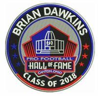 "BRIAN DAWKINS 2018 4"" PATCH NFL HALL OF FAME HOF FOOTBALL PHILADELPHIA EAGLES"