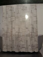 """Moda at Home Cityscapes Shower Curtain 70""""x72"""" Black/White New in Package 255542"""
