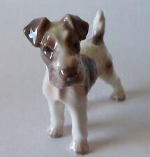 Dahl Jensen Wired Haired Fox Terrier Dog Figurine #1118 Denmark Royal Copenhagen