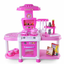 Kids Kitchen Toy Cooking Pretend Play Set Toddler Plastic Playset Christmas Gift