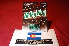 "Hot Wheels - Bread Box - 2013 M&M Mars ""Milky Way"" 1:64 - Metallic Green/Brown"