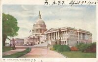 Postcard The Capitol Washington DC Posted 1905