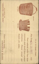 Illustrated Pioneer Postal Card Fibre Ware Metal Buckets New York City 1893