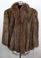 SFC Scandinavian Fur Company Brown Mink Fox Fur Lux Coat Finland L