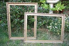 Large vintage antique picture frame, baroque, gold, two available