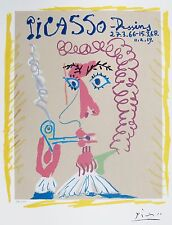Pablo Picasso DESSINS PIPE SMOKER Limited Edition Facsimile Signed Small Giclee