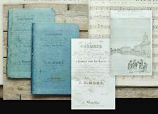 1828 Music Instruction with Nice Plates Notes Mees Theorie de la Musique 2 Vol