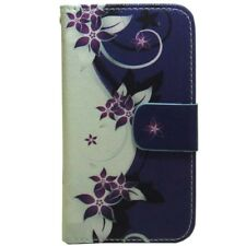 Pretty Little Flower Wallet Card Holder Flip case cover For Various Cell Phone