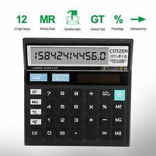 12-Digits Desktop Calculator Basic Business Office Standard Solar Large Display