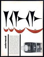 "1961 Underwood-Olivetti Adding Machine photo ""Accurate Figure-Facts"" print ad"