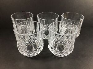 5 Cristal d'Arques Longchamp 24% Lead Crystal Double Old Fashioned Rocks Glasses