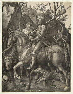 Albrecht Durer Knight Death And The Devil Poster Giclee Canvas Print