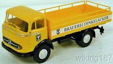 BREKINA NEW HO 1/87 Scale Classic Mercedes Benz Dinkelacker Beer Delivery Truck