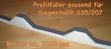 Profilfüller Sickenfüller Trapezbleche für Siegmetall® SG 35/207 kleine Sicke