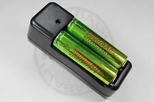 "CHARGEUR ""RAPIDE"" + 2 PILES BATTERIE RECHARGEABLE 18650 LI-ION 5000mAh BATTERY"