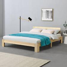[en.casa] Holzbett 180x200cm Bettgestell Bett Doppelbett Kiefer Ehebett Holz