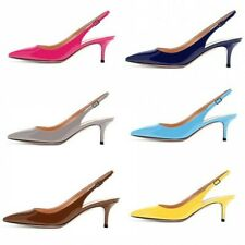 Sexy Women Closed Toe Summer Sandals Fashion Mid Heel Party Wedding Club Shoes L