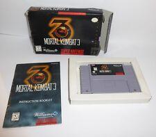 Super Nintendo Us-Version Snes Mortal Combat 3 in Packaging + Instructions