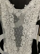 NWT FLORA NIKROOZ COLLECTION LINGERIE NIGHTGOWN BRIDAL GOWN STYLE 7533W $129 SIZ
