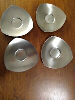 "4 Pc Thomas Stainless 4.5"" Triangle Saucers Rosenthal Group Germany"