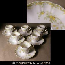 Antique Haviland Limoges 6 CHOCOLATE Demitasse VENETIA Venitia Cups Saucers
