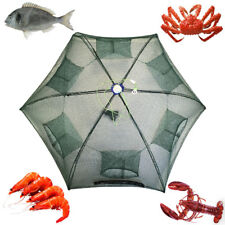 Foldable Fishing Bait Crab Net Trap Cast Dip Cage Fish River Pond Crawdad Shrimp