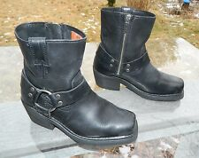 "Harley-Davidson 8"" Biker Boots / Stock #84422 / US Women size: 6 / Pre-owned"