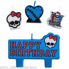 Monster High Candles - Birthday - Moulded - Birthday Party Supplies - Candles