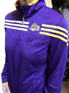 Adidas Womens NBA L.A. Lakers Los Angeles Track Full Zip Jacket Basketball Kobe