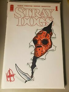 STRAY DOGS 1 5TH PRINTING BLANK VARIANT SIGNED AND REMARKED BY KEN HAESER SKETCH