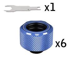 THERMALTAKE PACIFIC C-PRO BLUE Compression Fitting 6x Pack CL-W210-CU00BU-B F43