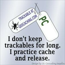 Trackable Car Window Cling - Practice Cache and Release