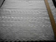 Eyelet Fabric BTY By Yard Embroidery White 1 Scalloped Border Blend Apparel #16
