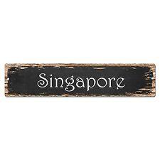 SP0127 Singapore Street Sign Bar Store Shop Pub Cafe Home Room Chic Decor
