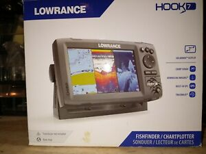 Lowrance Hook 7 Fishfinder, Chartplotter GPS, Upgraded HDI Tranducer included